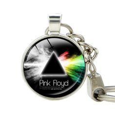 Pink Floyd Keychains Silver Plated Pink Floyd Music Key Rings Hipster Accessories Dark Side Keychain for Key Man Woman