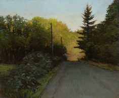 Marc Bohne (American, 1955-) > (Northwest) Oregon Road, 10 x 12 inches, oil on panel