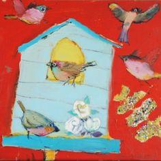 Vanessa cooper bird painting_ love the colours