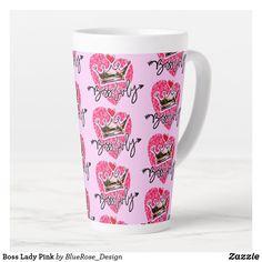 Boss Lady Pink Latte Mug Coffee Drinks, Coffee Mugs, Holiday Cards, Christmas Cards, Latte Mugs, Beer Mugs, Christmas Card Holders, Boss Lady, Keep It Cleaner
