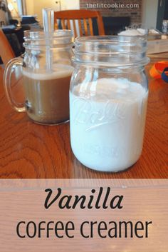 Paleo Vanilla Coffee Creamer (Vegan & Keto) Elevate your cup of coffee and keep it healthy with some delicious homemade Vanilla Coffee Creamer that's sugar free, paleo, and vegan! Sugar Free Coffee Creamer, Vanilla Coffee Creamer, French Vanilla Creamer, Coffee Creamer Recipe, Paleo Creamer, Healthy Coffee Creamer, Sin Gluten, Homemade Vanilla Creamer, Homemade Creamer For Coffee