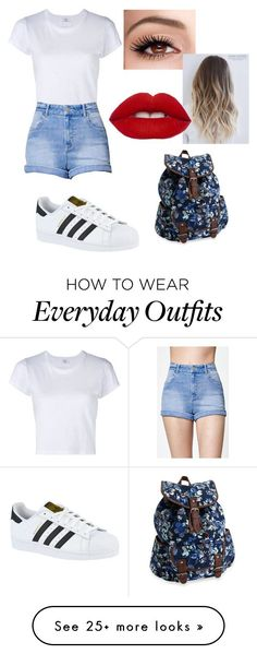 """everyday outfit"" by juliaianieri on Polyvore featuring RE/DONE, Kendall + Kylie, adidas and Aéropostale"