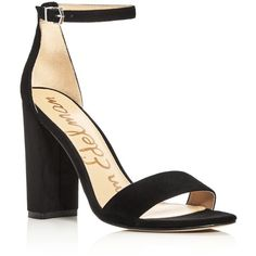 Sam Edelman Yaro Ankle Strap Block Heel Sandals (1.850 ARS) ❤ liked on Polyvore featuring shoes, sandals, black, black heeled sandals, sam edelman shoes, sam edelman sandals, kohl shoes and block-heel sandals