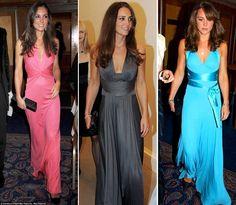 Vestidos de Kate, amo el azul