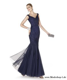 346d28305ae6 Pronovias Evening Dress   Gown - Beaded long dress with V neck neckline and  lace appliqués in Navy Blue. Available at Designer Bridal Room, Hong Kong