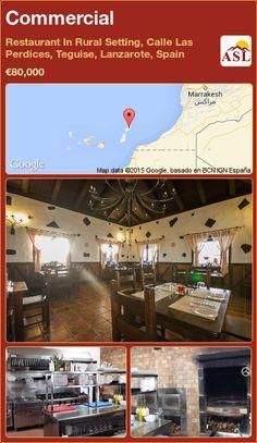 Commercial in Restaurant In Rural Setting, Calle Las Perdices, Teguise, Lanzarote, Spain ►€80,000 #PropertyForSaleInSpain Marrakesh, Commercial, Restaurant, Partridge, Street, Lanzarote, Diner Restaurant, Restaurants, Supper Club