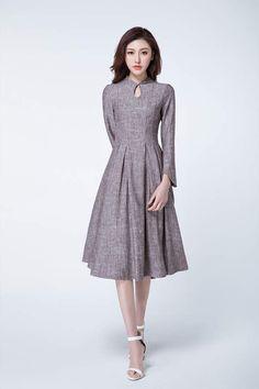 robe en lin robe de printemps robe mi-longue robe de bal