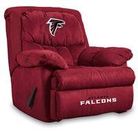 Atlanta Falcons Microfiber Home Team Recliner from ManCaveGiant.com