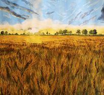 Summer Fields - Watercolor on Paper 56 x 62 cm