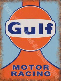 d7bc5b60725 Motor Racing 138 Retro Vintage Garage Petrol Fuel Oil Car, Large Metal/Tin  Sign