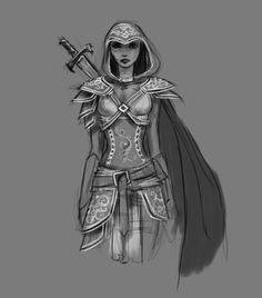 Female Armor Sketch by Gabrielle-G.deviantart.com on @deviantART