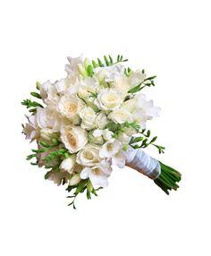 Buchet de mireasa trandafiri albi si frezii Floral Wreath, Wreaths, Weddings, Decor, Engagement, Bouquets, Floral Crown, Decoration, Door Wreaths