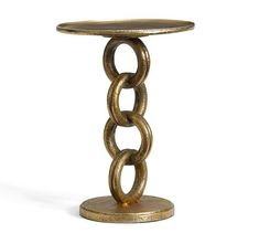 Chain Link Side Table   Pottery Barn