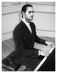 The Pianist fashion editorial by David Wang, styled by Michael Cook, model: Milan Krouzil