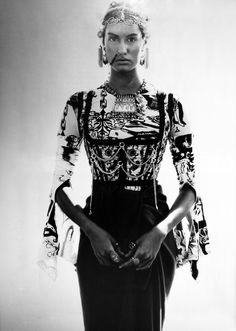 Harper's Bazaar, January 1994  Model: Yasmeen Ghauri   Jean Paul Gaultier, Spring 1994 RTW