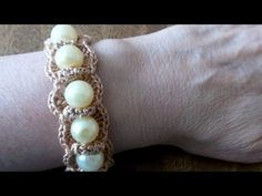 How To Crochet a Pretty Beaded Bracelet - DIY Style Tutorial - Guidecentral - YouTube