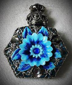 Vintage Czech Glass Mini Perfume Bottle