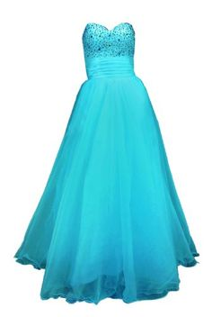 Moonar Chiffon Strapless Sweetheart Paillette A Line Prom Formal Gown Party Bridesmaid Wedding Dress $64.02