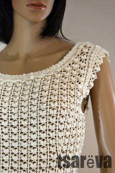 96eebfc692b3 Handmade women white summer crochet dress. Free shipping. Ready to