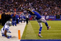 """New York Giants' Odell Beckham and his """"Best Catch Ever"""" from the November 23 game against the Dallas Cowboys"""