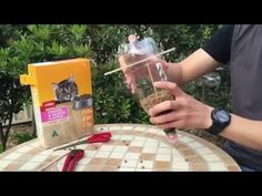Cat Feeder - DIY Self feeding cat food dispenser - YouTube