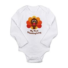 Aww so cute! $20 my first thanksgiving onsie. Since our bub will be born just before Thanksgiving (unless he's late!) I would love to have a cute little thanksgiving outfit for him to wear.