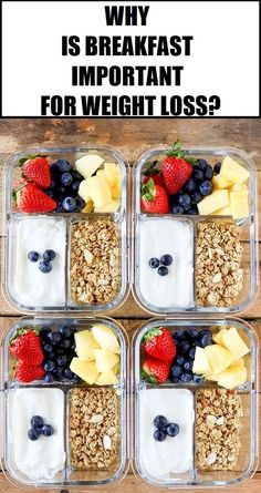 Healthy Meals Breakfast Meal Prep Fruit and Yogurt Bistro Boxes. Packed with protein, fresh fruit and a sprinkle of low-fat granola, these Fruit and Yogurt Bistro Boxes are a fresh idea for busy mornings. Lunch Snacks, Lunch Recipes, Meal Prep Recipes, Cold Lunches, Good Snacks, Low Fat Snacks, Dessert Recipes, On The Go Snacks, Snacks For Work