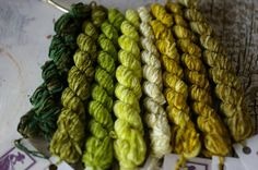 Silken Chenille is a 100% Silk Chenille Thread hand dyed by us. You are purchasing 1 skein of this thread. Choose from the variable, drop down menu. Colors from L to R are: Camouflage Green, Wetland Swamp, Grass Roots, Wasabi, Winter Moss, Pond Scum, Army Fatigue, Olive Pit. Skeins are 20 yards each. A beautiful thread for surface couching, wool applique, needlepoint. It makes beautiful spider web roses, colonial knots and many other applications. If you purchase $75 from our shop...