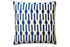 Jai 20x20 Embroidered Pillow, Blue on OneKingsLane.com, $89
