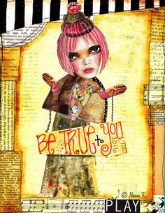 """©Nonni F Created with Crowabout StudioB's """"NAMASTE""""  #atc #digital #scrap #journal #christmas #mischief #art #scrapping #artdolls #holiday #journaling"""