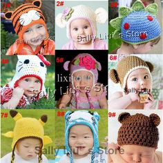 Wholesale 2012 New Baby Crochet Beanie Hat Cartoon Crochet Infant Animal Hat Children Handmade Cap Mix Styels, Free shipping, $3.4-4.05/Piece | DHgate