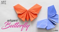 How to fold : Origmai Butterfly Paper Craft Art Origami, Origami Cards, Geometric Origami, Origami Gifts, Origami And Kirigami, Origami Ball, Origami Bookmark, Origami Butterfly, Paper Crafts Origami
