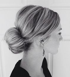 chignon+hairstyles,+low+bun+hairstyles+-+sock+bun                                                                                                                                                     More