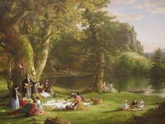 The American artist Thomas Cole's vision of a picnic.