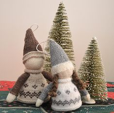 This nordic christmas ornament was inspired by the Barn Elf which is a creature from Scandinavian folklore. Find this pattern and more knitting inspiration at LoveKnitting.Com.