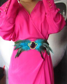 e1f61659d0 Cinturon de plumas de Marabú - Chicfy