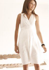 Linen Maternity Dress - UK20 Plus Size Maternity Dresses, Plus Size Pregnancy, White Dress, Ideas, Fashion, Moda, White Dress Outfit, Fashion Styles, Fashion Illustrations