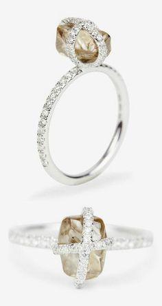 Diamond in the Rough & Smooth Diamond Ring Combo ♥ L.O.V.E.