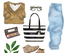 """Check out new work on my @Behance portfolio: """"Flat Lay Fashion - Digital Watercolor"""" http://be.net/gallery/60866825/Flat-Lay-Fashion-Digital-Watercolor"""