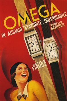 Vintage Omega watch ad