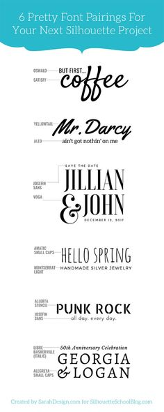 #1 Tip for Perfectly Pairing Fonts for Your Silhouette Projects (And 6 Perfect…
