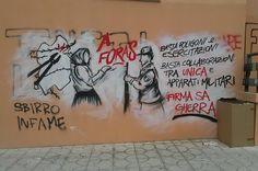 """Ecco come """"stuprano"""" i locali dell'Università, gli antimilitaristi"""
