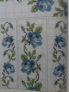 Cross Stitch Rose, Cross Stitch Borders, Cross Stitch Flowers, Cross Stitch Designs, Cross Stitching, Cross Stitch Embroidery, Hand Embroidery, Cross Stitch Patterns, Embroidery Designs