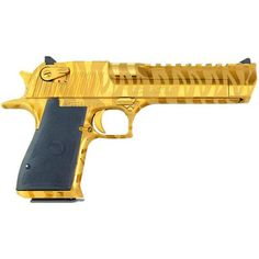 """Magnum Research Desert Eagle .357 Mag Semi Auto Pistol 6"""" Barrel 7 Rounds Steel Construction Weaver Rail Synthetic Grips Titanium Gold with Tiger Stripes"""