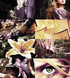 Really cool collage concept - ladies of disney -rapunzel