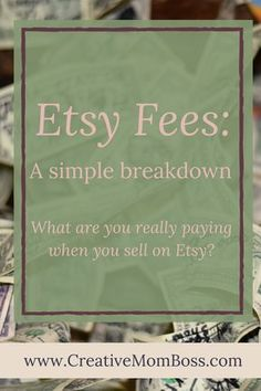 Etsy Fees: A simple breakdown. What are the fees that are involved in setting up and running an Etsy shop? Etsy Fees: A simple breakdown. What are the fees that are involved in setting up and running an Etsy shop? Business Coach, Business Tips, Online Business, Business Opportunities, Web Social, Social Media, Starting An Etsy Business, Selling Crochet, Etsy Seo