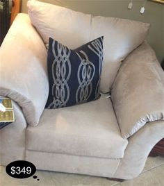 Super comfy and amazing to keep clean - stone colored upholstered accent chair.    Yesterdays Treasures Consignment  5829 Lone Tree Way Suite J  Antioch, CA 94531  925.233.4547  www.Yesterdayststore.com  Info@yesterdayststore.com