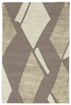 Judy Ross Hand-Knotted Custom Wool Diamonds Rug smoke/oyster silk/parchment