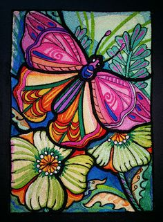 Stained Glass Butterfly - Machine Embrooidery BFC