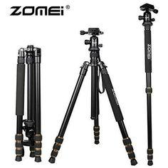 Zomei® Z668C Carbon Fiber Photographic Camera Detachable Tripod Monopod Portable Travel Tripods with 360° Ball head Suitable For Canon Nikon Sony Camera DSLR